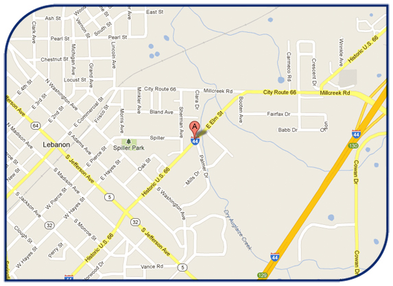 Map of David Layman Insurance Group in Lebanon, MO